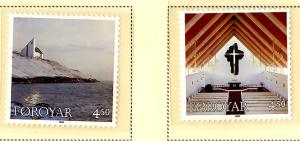 Faroe Islands 344-5 MNH SCV $2.80