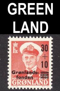 Greenland Scott B2 VF mint OG NH.