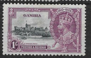 GAMBIA SG146 1935 SILVER JUBILEE 1/= MTD MINT