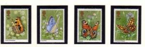 Great Britain Sc 941-44 1981 Butterflies stamp set mint NH