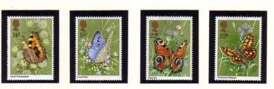 Great Britain Sc 1981 Butterflies stamp set mint NH