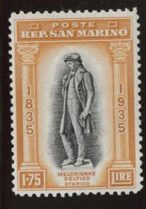 San Marino Scott 180 MH*  from 1935 Delfico set CV $100