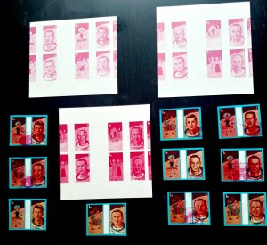 """EXTREMELY RARE UAE SHARJAH 1972, 10 SPACE & ZODIAC SIGNS 03 """"PROOFS SHEET"""" UNIQU"""