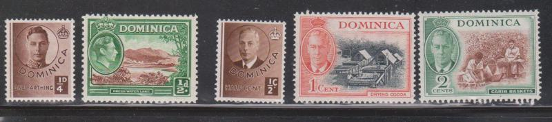 DOMINICA Selection Of Mint KGVI Issues