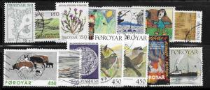 Faroe Islands 14 mixed stamps 2017 SCV $13.55 see below for catalog numbers