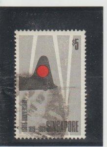 Singapore  Scott#  105  Used  (1969 Founding of Singapore)