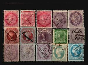 Great Britain 15 Revenues, used, some faults - C1280