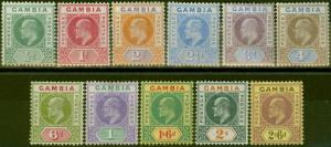 Gambia 1902-05 set of 11 to 2s6d SG45-55 Fine Very Lightly Mtd Mint