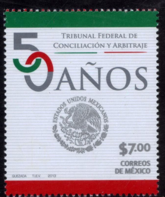 MEXICO 2840, 50th Anniv Conciliation & Arbitration COURT. MINT, NH. F-VF.