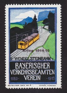 REKLAMEMARKE BAYERISCHER VERKEHRSBEAMTEN VEREIN WENDELSTEIN RR 1913 (MNH-OG)