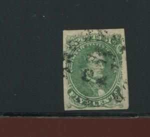 Confederate States 1 Jefferson Davis Used Stamp  (CSA 1-A9)