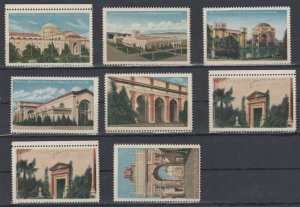 USA Poster Stamps of Scenic San Francisco California Landmarks, Lot of 8