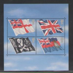 Great Britain Sc  1999 2001 Flags & Engigns stamp sheet mint NH