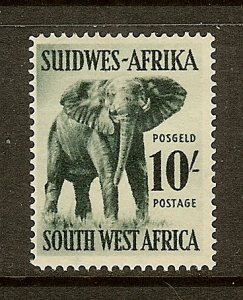 South West Africa, Scott #260, 10sh Elephant, MH