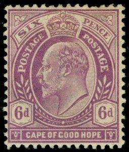 SOUTH AFRICA - Cape of Good Hope SG76, 6d brt mauve, M MINT. Cat £28.