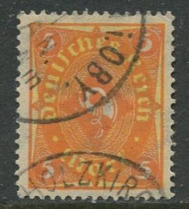 GERMANY. -Scott 188- Definitives -1922- Used - Wmk 126 - Single 5m Stamp