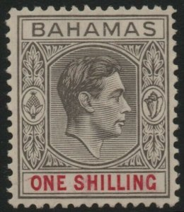 BAHAMAS-1938 1/- Grey-Black & Carmine Sg 155 MOUNTED MINT V38872