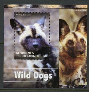 ST. VINCENT GRENADINES  2016 WORLD DOGS SOUVENIR SHEET I  MINT NH