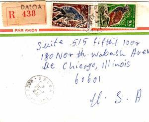 Ivory Coast 50F Lizard Buzzard and 90F Forest Francolin 1966 Daloa, Cote d'Iv...