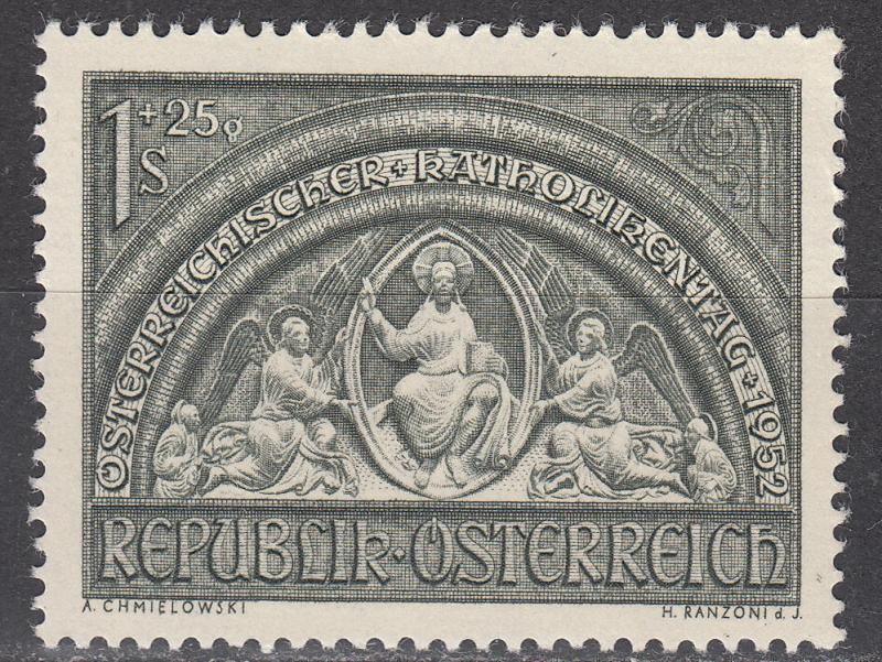 Austria - 1952 Sculpture Christ, The Almighty - MLH (9564)