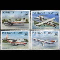 Kiribati MNH 400-3 Air Tungaru Airplanes 1982