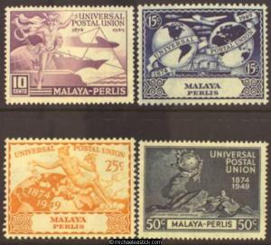 1949 Malaya Perlis U.P.U., set of 4, SG 3-6, MH