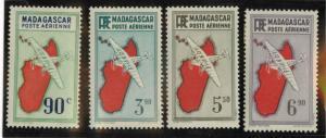 Madagascar C2, C10, C13, C15 Mint VF H