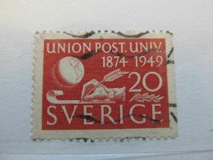 Schweden Suede Sverige Sweden 1949 20o perf 12½ on 3 sides fine used A13P43F241