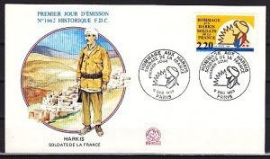 France, Scott cat. 2178. Harki Soldiers of France issue. First day cover. ^