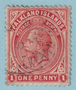 FALKLAND ISLANDS 42  USED - NO FAULTS VERY FINE! INTERESTING CANCEL