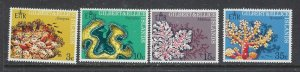 Gilbert and Ellice 199-202 MNH 1972 Corals (ap7441)