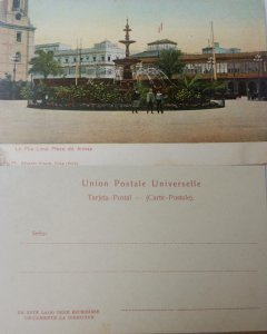 J) 1910 PERU, LA PILA, LIMA OF WEAPONS, SOURCE, POSTCARD