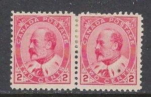 Canada 90 MHR 1903 Pair