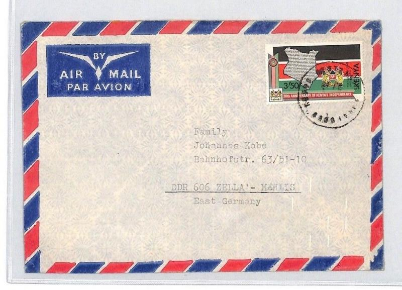 CA83 Africa 1983 KENYA *Skeleton Postmark* Air Cover Austria MISSIONARY VEHICLES