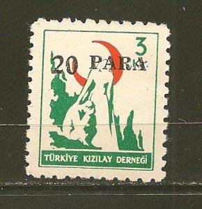 Turkey RA152 Surcharged Postal Tax MNH