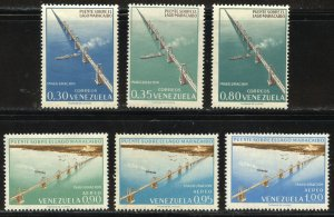 Venezuela Scott 837-39/C832-34 Unused HOG - Opening of Lake Maracaibo Bridge