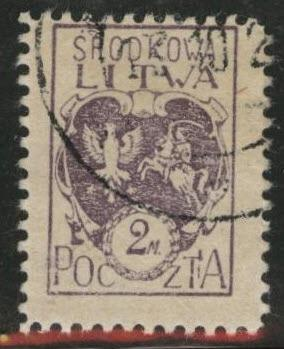 CENTRAL LITHUANIA  Scott 5 Used 1921