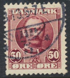 Denmark Scott 77 (AFA 58), 50ø claret Frederik VIII, F-VF U
