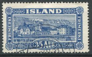 ICELAND # 147 F-VF Used Issue Partial CDS - VIEW OF REYKJAVIK - S6194