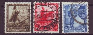 J13936 JLstamps 1938 italy used part of set #403, 405-6