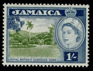 JAMAICA QEII SG168, 1s yellow-green & blue, NH MINT.