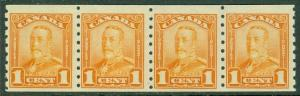 EDW1949SELL : CANADA 1929 Unitrade #160 Strip of 4. Very Fine, MNH. Cat $480.00.