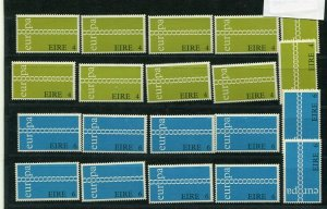 D093726 Europa CEPT 1971 Chain of O's Wholesale 10 Series MNH Ireland