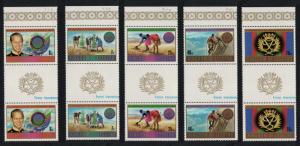 Lesotho 25th Anniversary of Duke of Edinburgh Award 5v Gutter Pairs SG#462-466