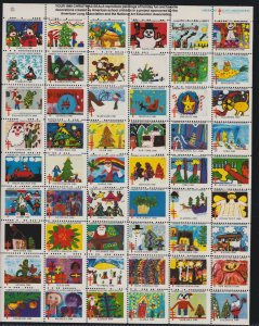 US Vintage 1980 American Lung Association Christmas Seal Mint Sheet