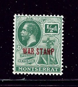 Montserrat MR1 MH 1917 overprint