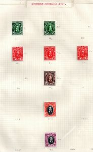 Southern Rhodesia 1931 KGV mint collection Perf varieties WS18841(L)