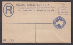 Great Britain H&G C28A mint 1893 2p Queen Victoria Registered Envelope, F-VF