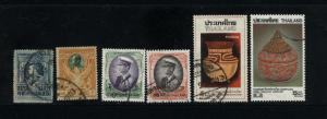 Thailand 6 different  used PD