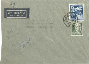 Germany Soviet Zone 60pf Hegel with East Germany 35pf Congress of Nations for...